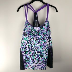 Aquabelle Tankini Top Purple Plus Size 26